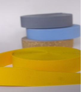 Elastisch tailleband goudgeel