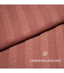 Lebenskleidung |Tulipwood ribbed bio jersey breed