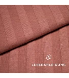 Lebenskleidung |Tulipwood ribbed bio jersey breed